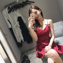 代购低胸露背收腰修身小礼服吊带裙2020夏性感抹胸连衣裙短裙夜店