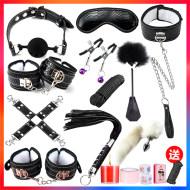 sm捆绑式工具手铐情趣性用品用情床上用具调情玩道具皮鞭套装女性