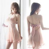 春秋性感蕾丝睡衣女士透明薄款吊带睡裙火辣套装情趣诱惑短裙骚夏