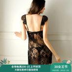 日本蕾丝性感睡衣女露背吊带睡裙极度诱惑骚激情透明薄款情趣内衣