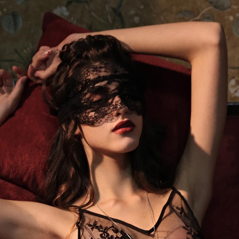 柠檬太太  性感诱惑蕾丝遮光睡眠黑色眼罩情趣挑逗配件
