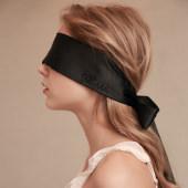 情趣遮光眼罩丝滑绸缎面具性感可捆绑手环黑色配饰丝带