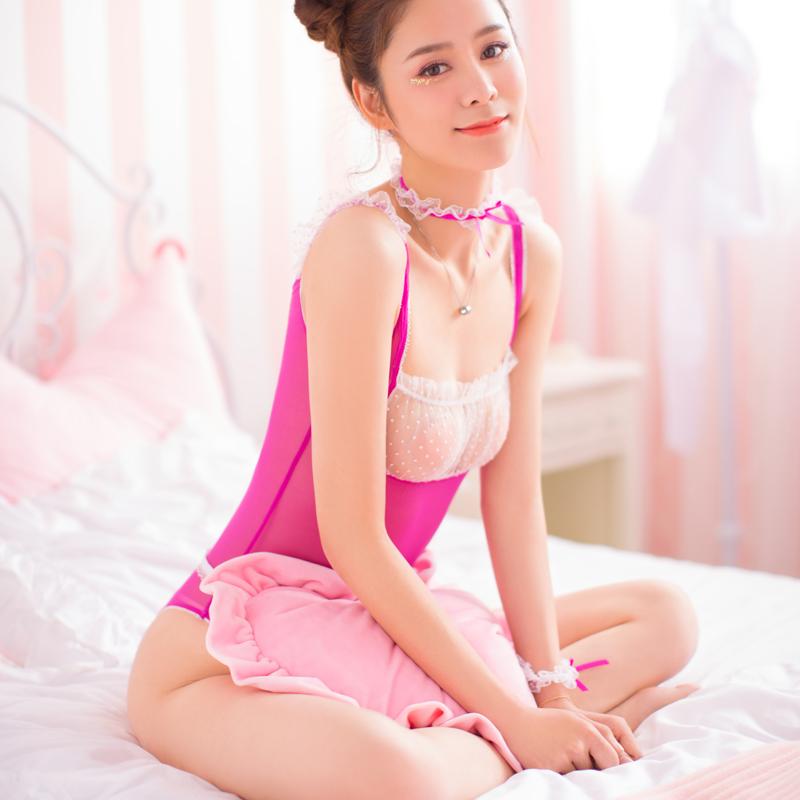 情趣内衣性感蕾丝情趣衣透明调情睡衣网红爆款女免脱肚兜连体衣